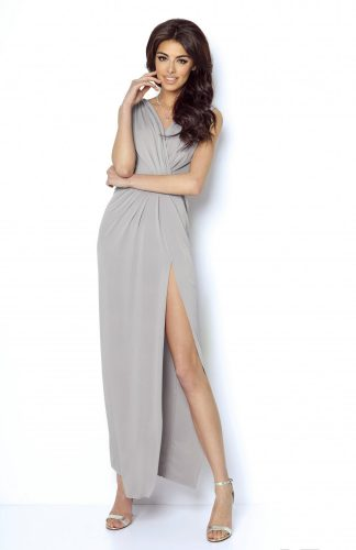 Sukienka wieczorowa maxi szara