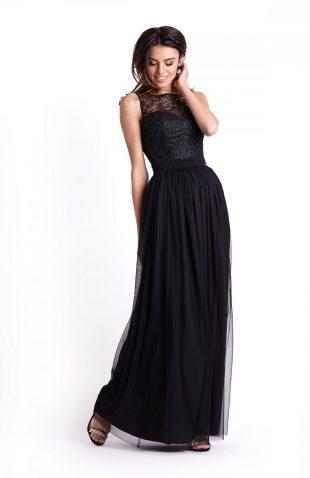 Sukienka wieczorowa maxi czarna