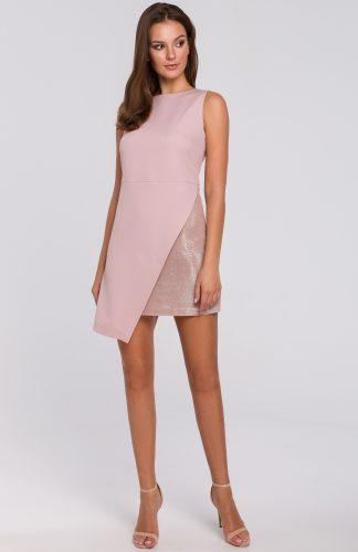 Sukienka wieczorowa mini różowa