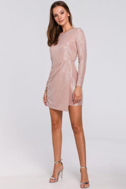 Sukienka wieczorowa różowa mini