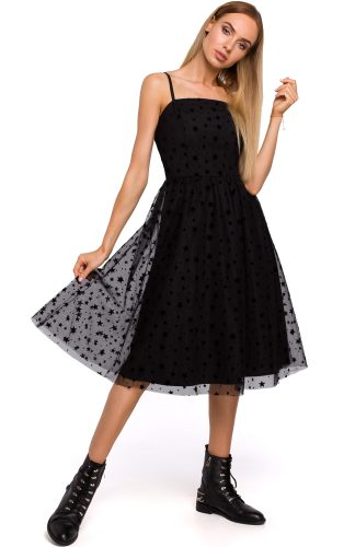 Sukienka tiulowa midi czarna