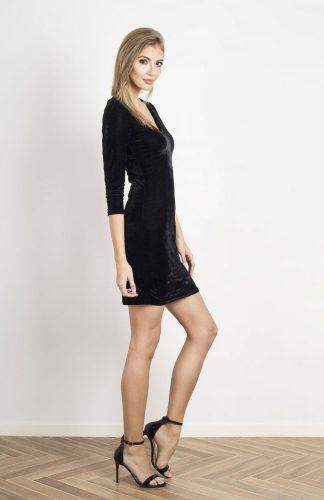 Sukienka wieczorowa dopasowana czarna