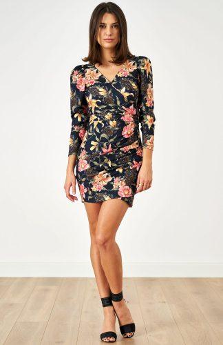 Sukienka ołówkowa elegancka w kwiaty