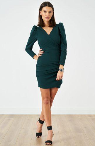 Sukienka ołówkowa elegancka zielona