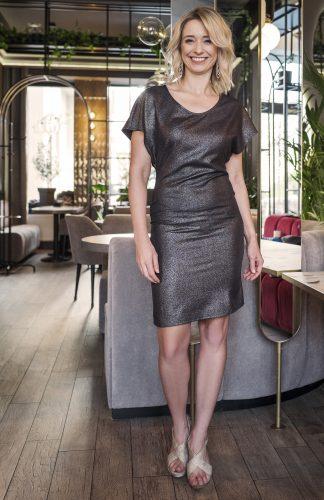 Sukienka ołówkowa połyskująca