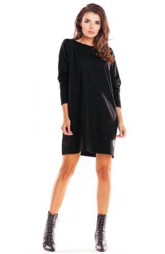 Sukienka oversize bawełniana czarna