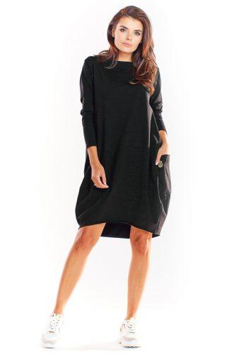 Sukienka bombka dresowa czarna