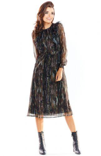 Sukienka szyfonowa z falbankami