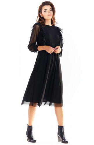 Sukienka tiulowa elegancka czarna
