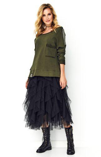 Bluza oversize damska khaki
