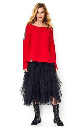 Bluza oversize damska czerwona