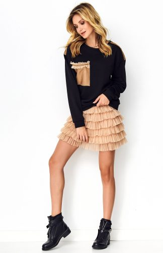 Bluza damska bawełniana czarna