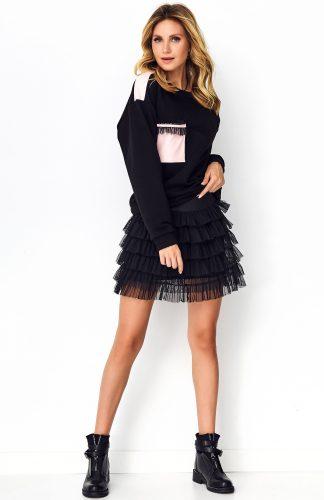 Bluza damska czarna bawełniana