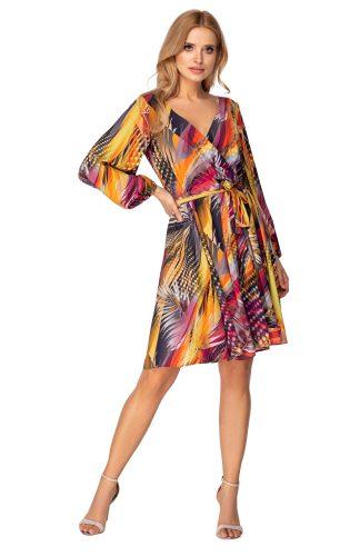 Sukienka kopertowa rozkloszowana