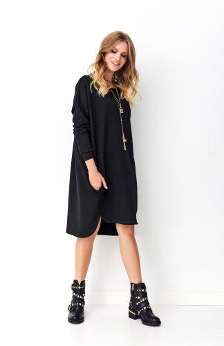 Sukienka dresowa oversize czarna