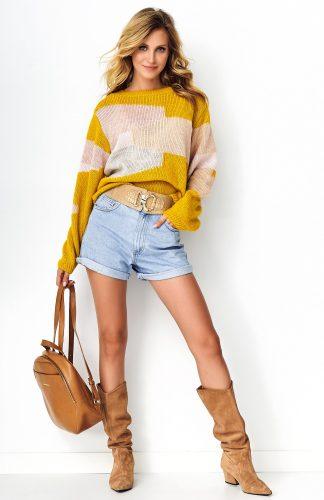 Sweter damski oversize kolorowy
