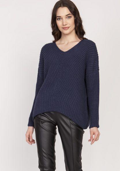 Sweter oversize granatowy