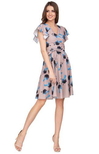Sukienka kopertowa wizytowa rozkloszowana