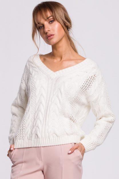 Sweter ażurowy ecru