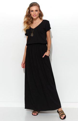 Sukienka długa dzianinowa czarna