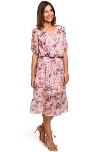 Sukienka szyfonowa z falbaną