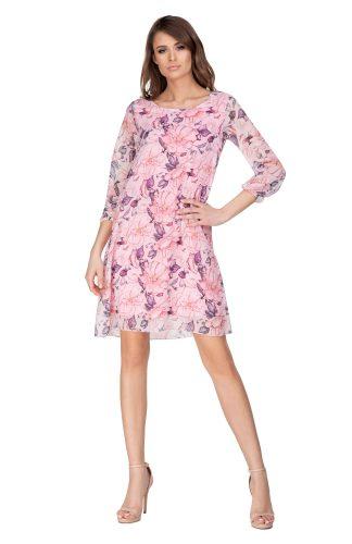 Sukienka trapezowa szyfonowa