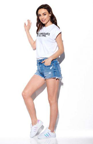 Koszulka damska z haftem krótki rękaw