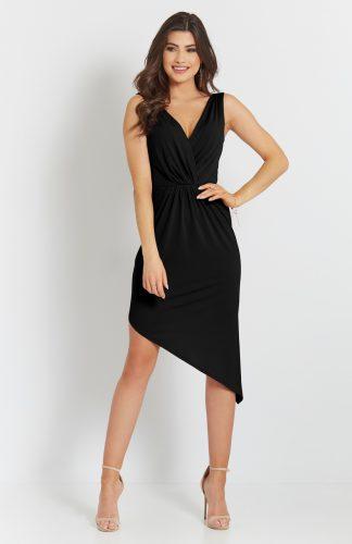 Sukienka ołówkowa wizytowa czarna