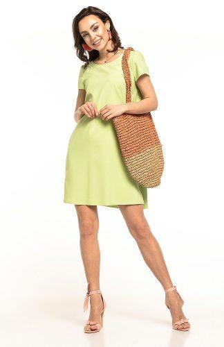Sukienka trapezowa elegancka jasnozielona
