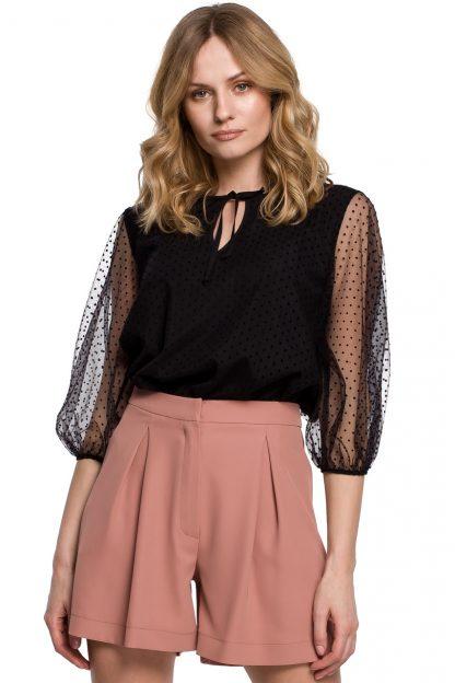 Bluzka damska elegancka czarna