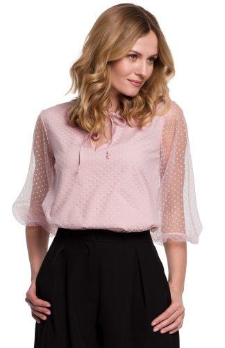 Bluzka damska elegancka różowa
