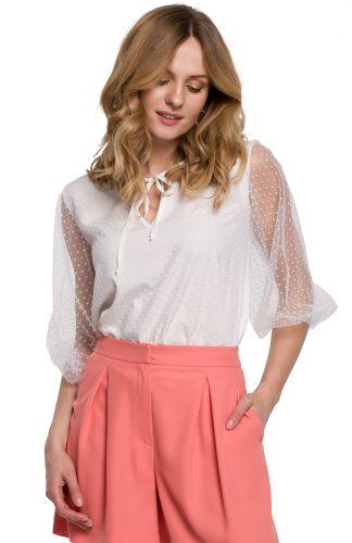 Bluzka damska elegancka biała
