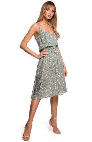 Sukienka midi rozkloszowana na ramiączkach