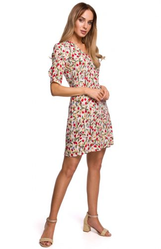 Sukienka rozkloszowana taliowana mini