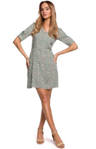 Sukienka taliowana rozkloszowana mini