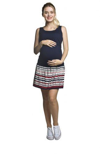 Sukienka ciążowa na ramiączkach z falbaną