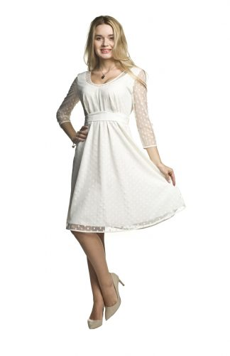 Sukienka ciążowa elegancka biała