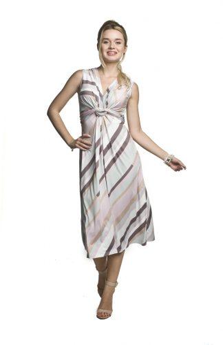 Sukienka ciążowa midi na ramiączkach