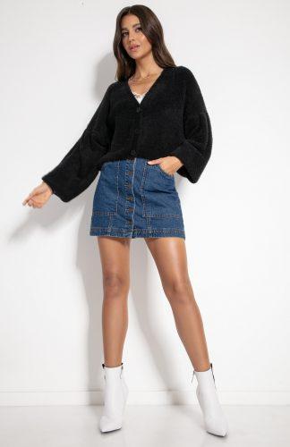 Sweter zapinany na guziki czarny