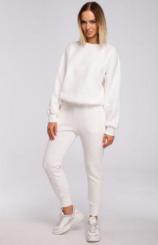 Spodnie dresowe damskie ecru