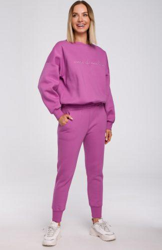 Spodnie dresowe damskie lawendowe