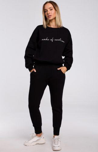 Bluza bawełniana szeroka czarna