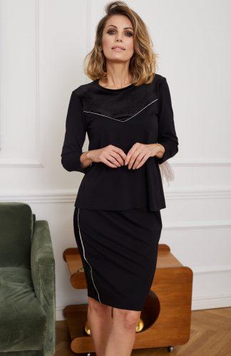 Komplet damski elegancki spódnica i bluzka