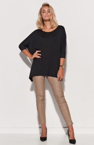 Bluzka damska oversize długa czarna