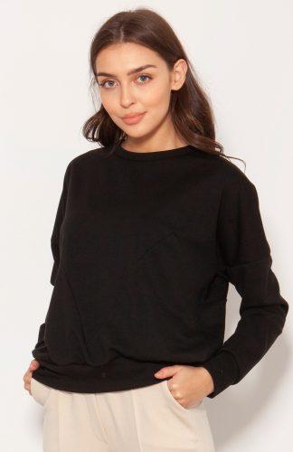 Bluza oversize wkładana przez głowę czarna
