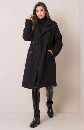 Płaszcz długi ciepły oversize czarny