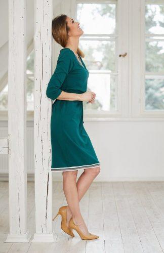 Sukienka ołówkowa dzianinowa zielona