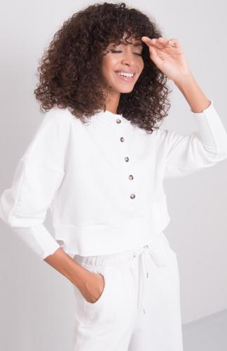 Bluza damska bawełniana krótka ecru