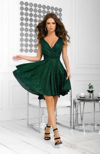 Sukienka brokatowa wieczorowa zielona