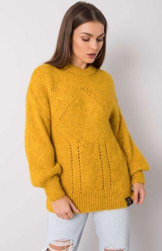 Sweter oversize kimonowy żółty